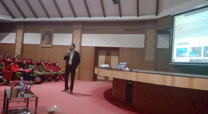 Infosys Team Interacting with students