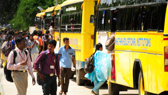 I B.Tech students bus numbers and route from 25.01.2021 onwards